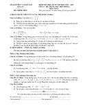 Đề kiểm tra học kỳ 2 năm học 2012-2013 môn Toán 12 - Sở Giáo dục và Đào tạo Gia Lai