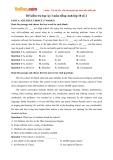 Đề kiểm tra học kỳ 1 môn Tiếng Anh 10 số 2