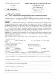 Đề thi chọn học sinh giỏi tỉnh cấp THPT năm học 2012-2013 môn Tiếng Pháp 10 - Sở Giáo dục và Đào tạo Hà Tĩnh