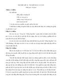 Đề thi thử vào lớp 10 môn Ngữ văn 10