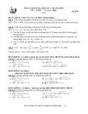 Đáp án kiểm tra học kỳ 2 năm học 2013-2014 môn Toán lớp 10