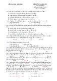 Đề kiểm tra học kỳ 1 môn Vật lý 12 - Sở Giáo dục và Đào tạo