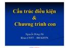 Bài giảng Nhập môn lập trình: Cấu trúc điều kiện và chương trình con - ThS. Nguyễn Đông Hà