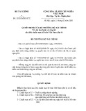 Quyết định số: 12/2005/QĐ-BTC