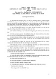 Hệ thống chuẩn mực kiểm toán Việt Nam - Chuẩn mực số 510: Kiểm toán năm đầu tiên - số dư đầu năm tài chính