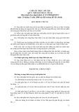 Hệ thống chuẩn mực kiểm toán Việt Nam - Chuẩn mực số 520: Quy trình phân tích