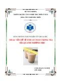 Đề tài nghiên cứu khoa học: Vấn đề vệ sinh an toàn trong trà sữa quanh trường học