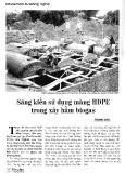 Sáng kiến sử dụng màng HDPE trong xây hầm Biogas