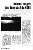 Hầm túi Biogas ứng dụng vật liệu HDPE - Lê Trọng Khánh
