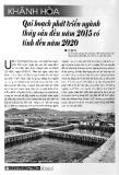 Khánh Hòa quy hoạch phát triển ngành thủy sản đến năm 2015 có tính đến năm 2020