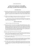 Hệ thống chuẩn mực kiểm toán Việt Nam - Chuẩn mực số: 910 - Công tác soát xét báo cáo tài chính