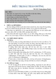 Bài giảng Điều trị đái tháo đường - ThS. BS. Trương Quang Hoành