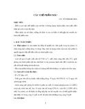 Bài giảng Các chế phẩm máu - Võ Thị Kim Hoa