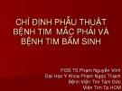 Bài giảng Chỉ định phẫu thuật bệnh tim mắc phải và bệnh tim bẩm sinh - PGS.TS.Phạm Nguyễn Vinh