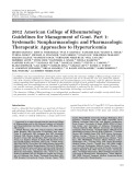 Guidelines for Management of Gout - Part 1: Systematic Nonpharmacologic and Pharmacologic Therapeutic Approaches to Hyperuricemia
