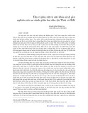 Địa vị phụ nữ và sức khỏe sinh sản nghiên cứu so sánh giữa hai dân tộc Thái và Êđê
