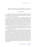 Một số vấn đề về quan hệ gia đình qua báo chí - Nguyễn Hồng Thái