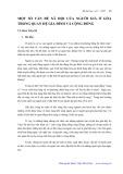 Một số vấn đề xã hội của người già ở góa trong quan hệ gia đình và cộng đồng - Vũ Hoa Thạch
