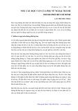 Nhu cầu học vấn của phụ nữ ngoại thành thành phố Hồ Chí Minh - Lưu Phương Thảo