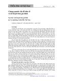 Chung quanh vấn đề dân số và kế hoạch hóa gia đình: Nạo thai và kế hoạch hóa gia đình tại 2 xã, phường ở miền Bắc, Việt Nam