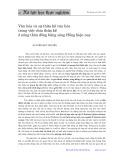 Văn hóa và sự kế thừa văn hóa trong việc chia thừa kế ở nông thôn đồng bằng sông Hồng hiện nay - Nguyễn Đức Tuyến