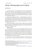 Thử bàn về đối tượng nghiên cứu của xã hội học - Lê Ngọc Hùng