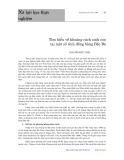 Tìm hiểu về khoảng cách sinh con tại một số tỉnh đồng bằng Bắc Bộ - Nguyễn Đức Vinh
