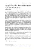 Vấn đề tôn giáo tín ngưỡng trong tư tưởng Hồ Chí Minh - Đỗ Quang Hưng