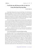 Vấn đề giáo dục phổ thông qua khảo sát một số xã ở nông thôn đồng bằng sông Hồng - Nguyễn Thị Văn
