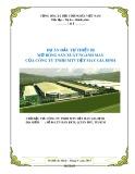 Lập dự án miễn phí Đầu tư thiết bị mở rộng sản xuất ngành may của Công ty TNHH MTV Dệt may Gia Định