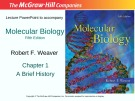 Lecture Molecular biology (Fifth Edition): Chapter 1 - Robert F. Weaver