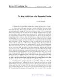 Tư duy xã hội học của Auguste Comte - Vũ Hào Quang