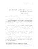 Đổi mới kinh tế xã hội ở Việt Nam 1986-2000: Một cái nhìn tổng quan - Phạm Xuân Nam