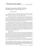 Hòa giải ở nông thôn miền Bắc Việt Nam: Giả thuyết dành cho một cuộc nghiên cứu - Bùi Quang Dũng