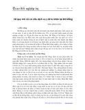 Về quy mô và cơ cấu dịch vụ y tế tư nhân tại Đà Nẵng - Trịnh Minh Hoan