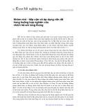 Nhóm nhỏ, một số hướng tiếp cận và áp dụng trong trường hợp nghiên cứu nhóm trẻ em lang thang - Đỗ Thị Ngọc Phương