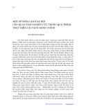 Một số khía cạnh xã hội cần quan tâm nghiên cứu trong quá trình thực hiện cải cách hành chính - Nguyễn Hữu Minh