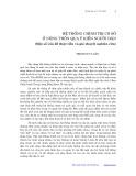 Hệ thống chính trị cơ sở ở nông thôn qua ý kiến người dân: Một số vấn đề thực tiễn và giả thuyết nghiên cứu - Trịnh Duy Luân