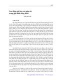 Lao động nội trợ của phụ nữ trong gia đình nông thôn - Trần Qúy Long