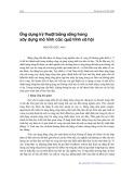 Ứng dụng kỹ thuật bảng sống trong xây dựng mô hình các quá trình xã hội - Nguyễn Đức Anh