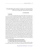 Truyền thông đại chúng và quản lý văn hoá đô thị: Đề xuất cho trường hợp thành phố Hồ Chí Minh - Lê Thanh Bình