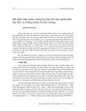 Mô thức tiếp nhận thông tin báo chí của người dân Hà Nội và những nhân tố ảnh hưởng - Trần Bá Dung