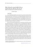 Khác biệt giới trong dự định đầu tư của bố mẹ cho việc học của con cái: Nghiên cứu trường hợp tại xã Lộc Hòa, Nam Định - Lê Thúy Hằng