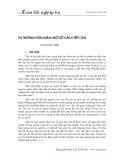 Thị trường hôn nhân: Một số cách tiếp cận - Hoàng Bá Thịnh