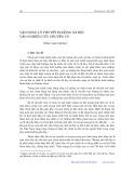 Vận dụng lý thuyết di động xã hội vào nghiên cứu chuyển cư - Tống Văn Chung