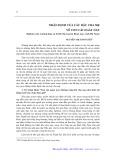 Nhận định của các bậc cha mẹ về con cái ngày nay: Nghiên cứu trường hợp xã Trịnh Xá, huyện Bình Lục, tỉnh Hà Nam - Nguyễn Thị Ánh Tuyết