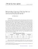 Bất bình đẳng về giáo dục ở Việt Nam hiện nay: Dựa trên cơ sở dữ liệu VLSS93, VLSS98 và so sánh với một số nước Tây Âu trong những năm 1960-1965