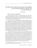 Tìm hiểu văn hóa làng Việt vùng châu thổ sông Hồng qua sự biến đổi đường bán kính kết hôn hơn nửa thế kỷ qua - Mai Văn Hai