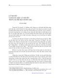 Lý thuyết và khung mẫu lý thuyết trong xã hội học đương đại - Tô Duy Hợp