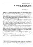 Dư luận xã hội, mấy vấn đề lý luận và phương pháp nghiên cứu - Mai Quỳnh Nam